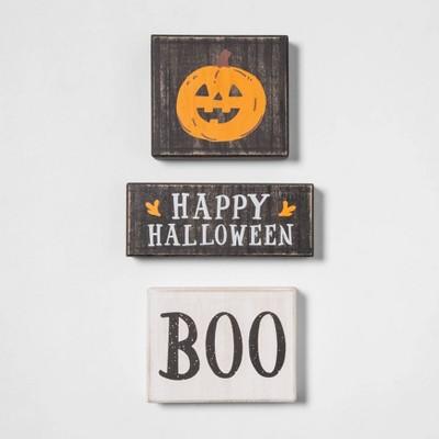 3ct Mini Wood Halloween Sign - Hyde & EEK! Boutique™