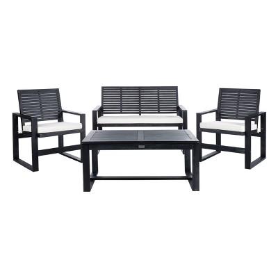 Ozark 4pc Outdoor Living Set - Black Wash - Safavieh