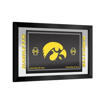 NCAA Iowa Hawkeyes Team Logo Wall Mirror