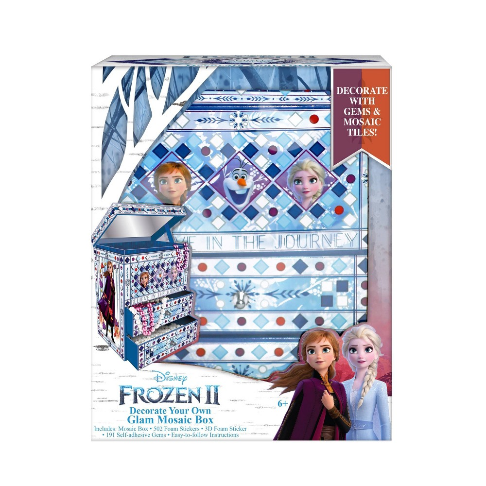 Image of Disney Frozen 2 Decorate Your Own Glam Mosaic Box