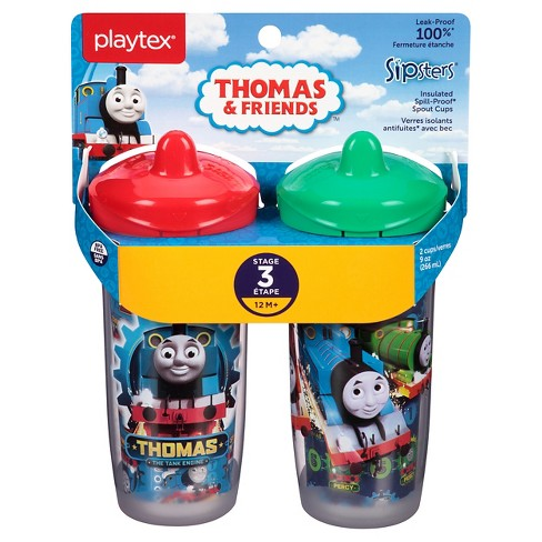 Playtex Sipsters Thomas & Friends Stage 3 Insulated Spout Sippy Cups 9oz 2 Pack - image 1 of 9