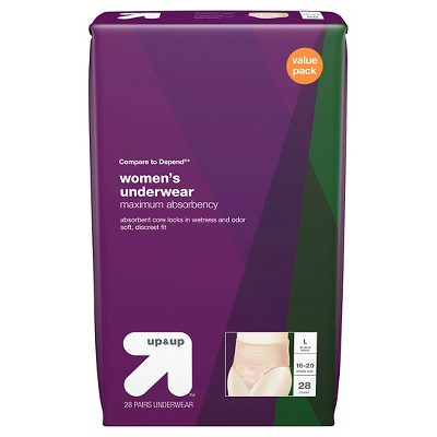 Incontinence Underwear for Women - Maximum Absorbency - Large - 28ct - Up&Up™ (Compare to Depend)