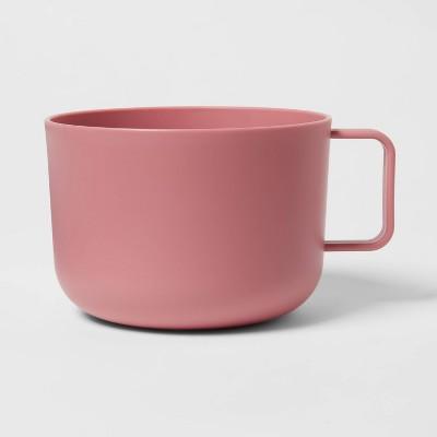 30oz Plastic Soup Mug Coral - Room Essentials™