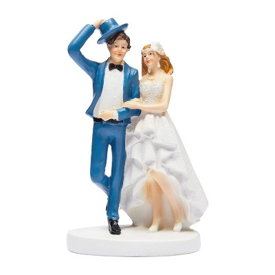 Sparkle and Bash Classic Bride & Groom Figurines Wedding Cake Topper, Wedding Party Decorations Gifts