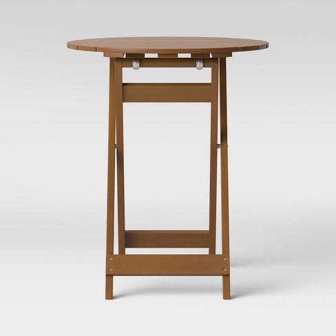 Wood Patio Folding Table - Threshold™ - image 1 of 3