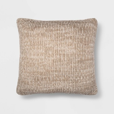 Oversize Marled Knit Square Throw Pillow - Threshold™