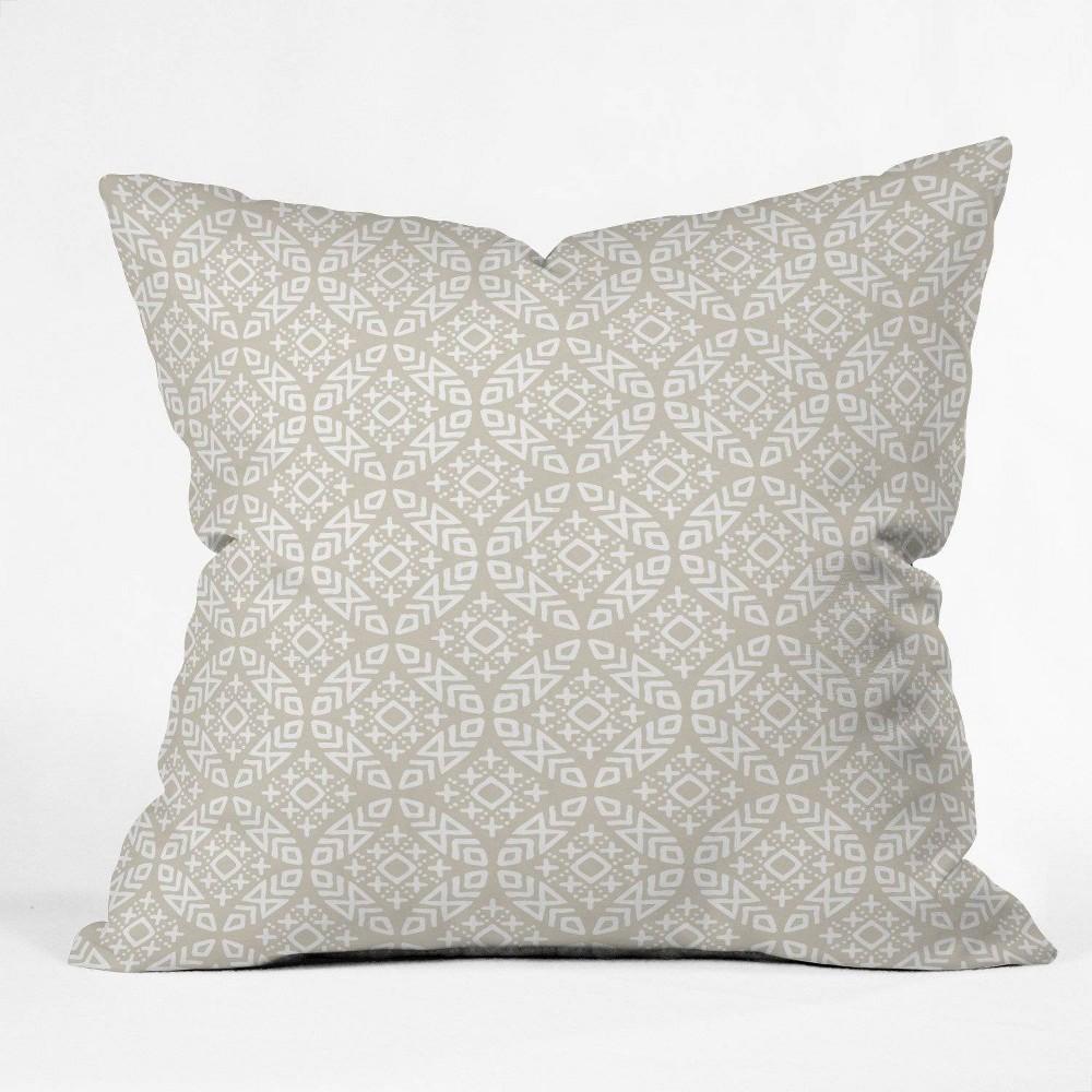 18 X18 Little Arrow Design Co Modern Throw Pillow Beige Deny Designs