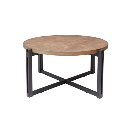Silverwood Dakota Coffee Table with Round Wood Top Brown