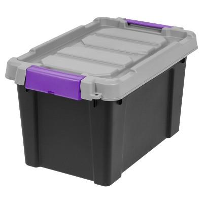 Charmant Heavy Duty Plastic Storage Bin   4pk