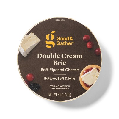 Double Cream Brie Soft Ripened Cheese Round - 8oz - Good & Gather™