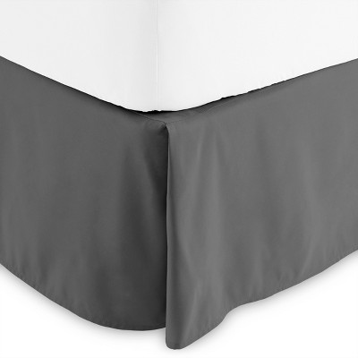 Bare Home 15 Inch Tailored Microfiber Bed Skirt