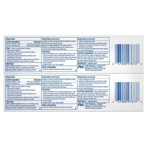 crest pro health original clean mint toothpaste 4 6oz 2pk target