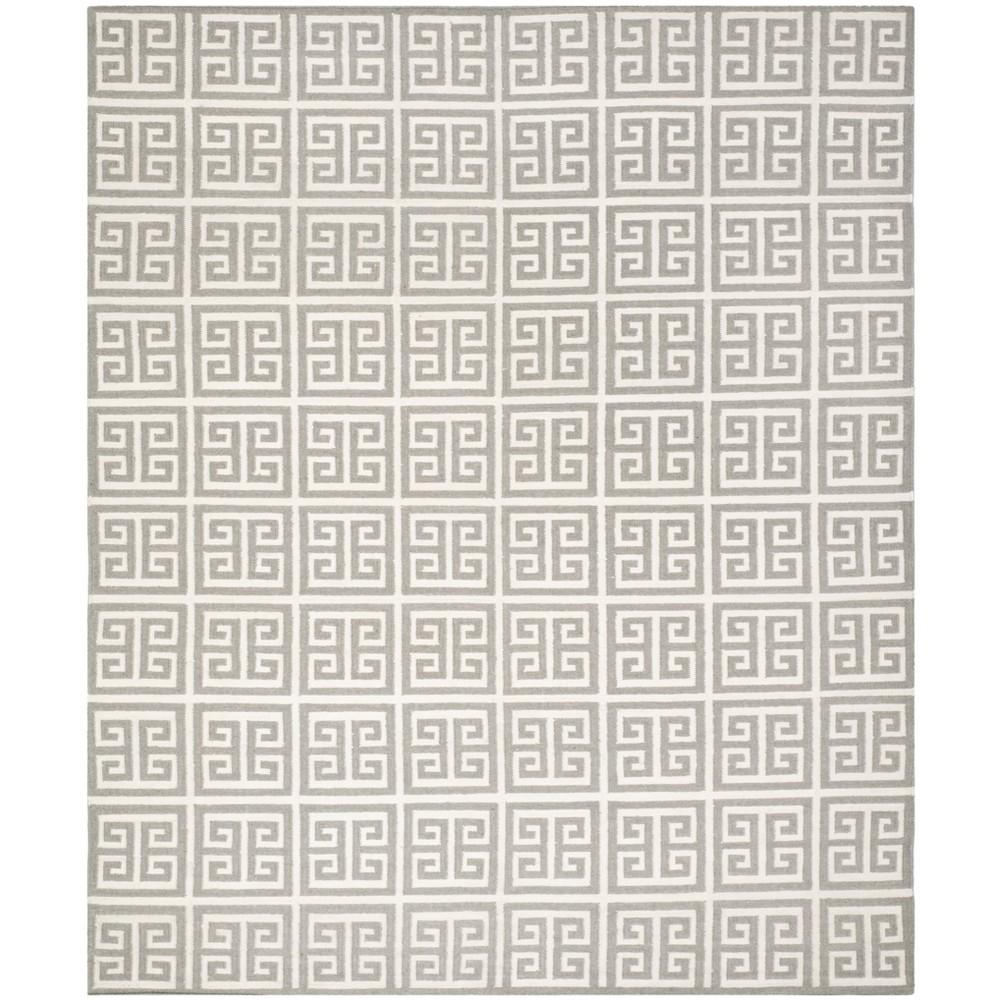 Woven Geometric Area Rug Gray