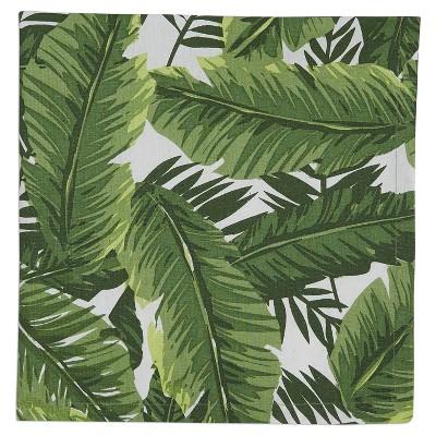 6pk Green Bamboo Leaf Printed Napkin 20 x20  - Design Imports