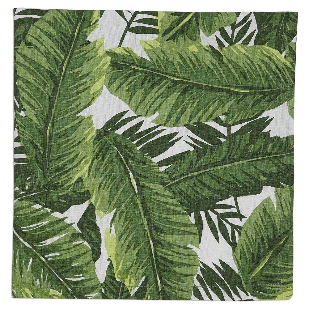 6pk Green Bamboo Leaf Printed Napkin 20