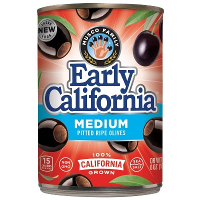 Early California Medium Pitted Ripe Olives - 6oz