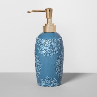 Santorini Ceramic Soap/Lotion Dispenser Blue - Opalhouse™
