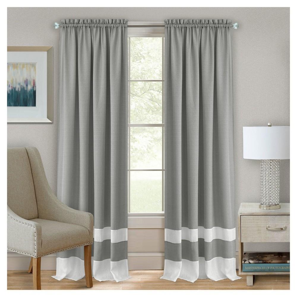 Darcy Rod Pocket Window Curtain Panel Gray (52