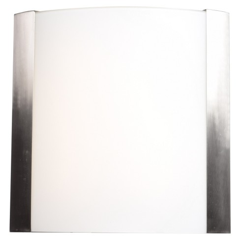 "West End 15""H LED Wall Sconce - Brushed Steel - Opal Glass Shade - image 1 of 3"