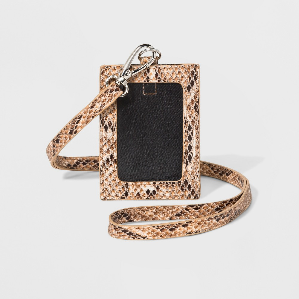 Women's Faux Snake Lanyard - Wild Fable Brown Faux-snakeskin wallet lanyard in brown. Clear card pocket lets your ID show. Comes with a removable lanyard strap. Gender: Female. Age Group: Adult. Pattern: Snakeskin.