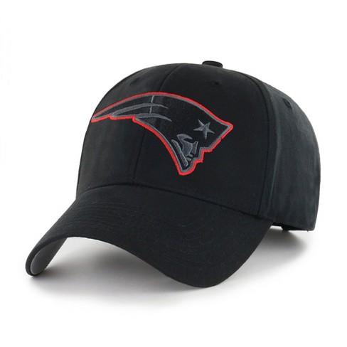 Nfl New England Patriots Classic Black Adjustable Cap Hat By Fan