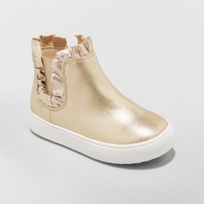 Toddler Girls' Winter High Top Bootie Sneakers - Cat & Jack™ Gold 5