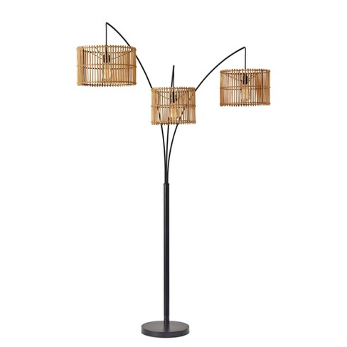 """82"""" Cabana Collection 3-Arm Arc Lamp Black - Adesso - image 1 of 4"""