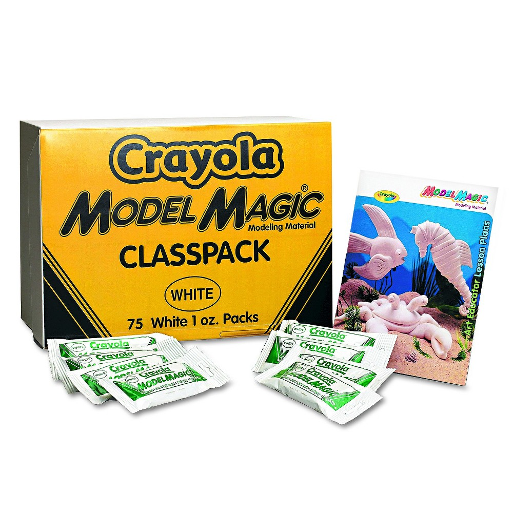 Image of Crayola Classpack Model Magic Modeling Compound 1oz packets 75oz White