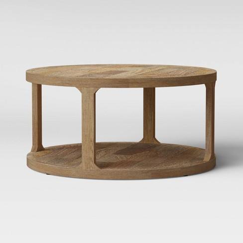 Castalia Round Natural Wood Coffee Table Threshold Target