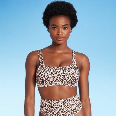 Juniors' Ribbed Bralette Bikini Top - Xhilaration™ Animal Print