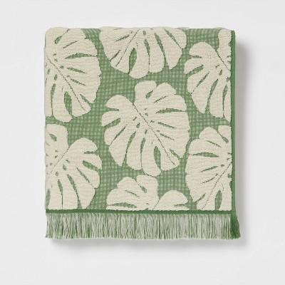 Palm Leaf Bath Towel Cream/Green - Threshold™