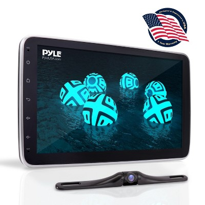"Pyle PL2DN105 10.1"" Touch Screen TFT/LCD Monitor In-Dash Double DIN Player with Back up Camera, Bluetooth, and Steering Wheel Controls"