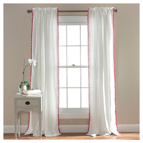 Pom Pom Window Curtain - Lush Decor - image 1 of 1