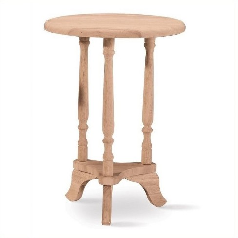 Wood Round Unfinished Plant Table in Brown-Pemberly Row - image 1 of 1