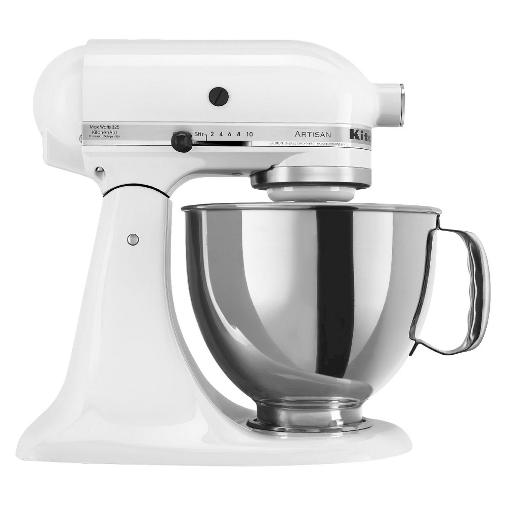 KitchenAid Artisan Series 5qt Tilt-Head Stand Mixer – White KSM150 562334