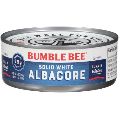 Bumble Bee Solid White Albacore Tuna in Water - 5oz