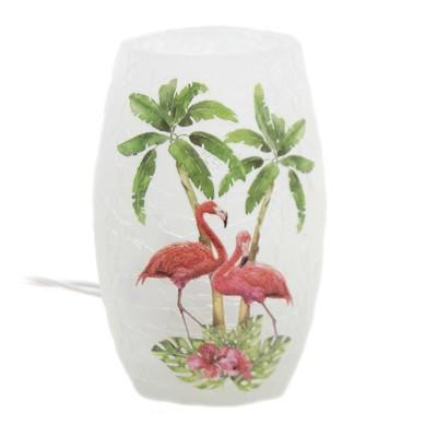 "Stony Creek 5.0"" Flamingos Small Lit Vase Palm Trees Breeze  -  Novelty Sculpture Lights"