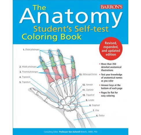 Anatomy Student S Self Test Coloring Book By Kurt Target