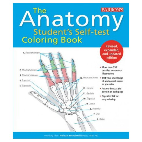 Anatomy Students Self Test Coloring Book
