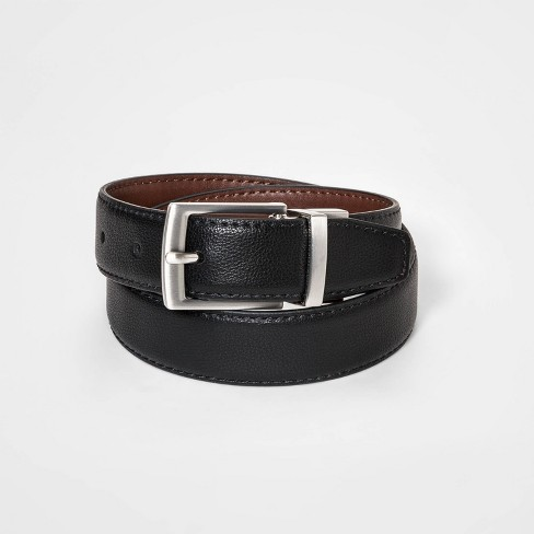 Boys' Stretch Dress Reversible Belt - Cat & Jack™ Black/Brown - image 1 of 2