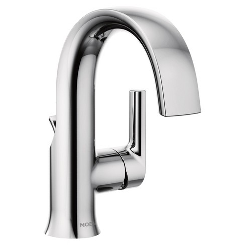 Moen S6910 Doux 1 2 Gpm Single Hole Bathroom Faucet With Pop Up Drain Assembly Chrome Target