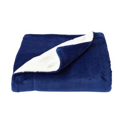 Oversized Polyester Fleece Sherpa Throw Blanket - Yorkshire Home