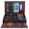 136pc Draw + Color + Paint Art Set in Wood Case - Art 101 - image 2 of 4