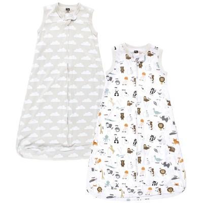 Hudson Baby Unisex Baby Interlock Cotton Sleeveless Sleeping Bag, Alphabet Animals