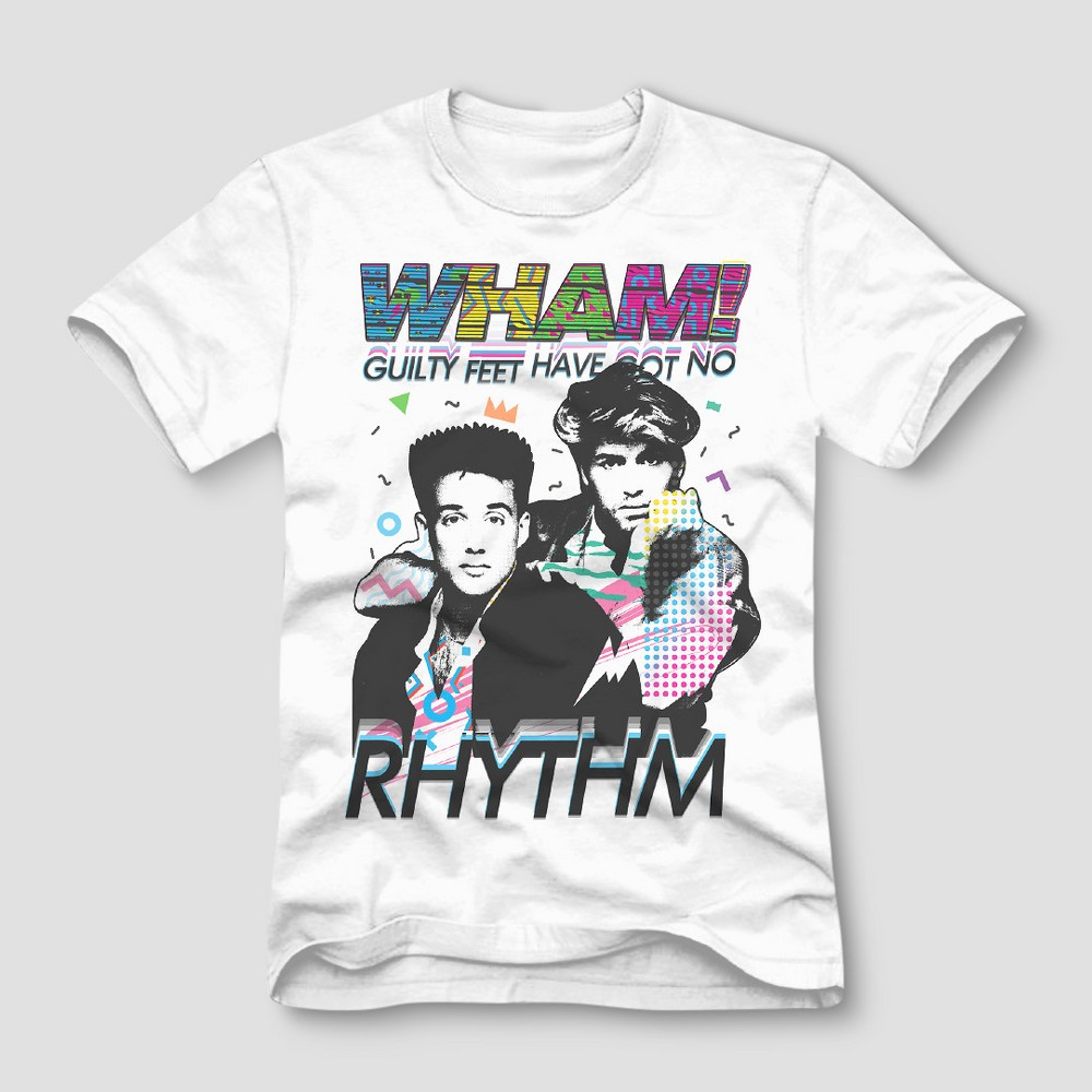 Men's Wham! Short Sleeve Graphic T-Shirt - White S
