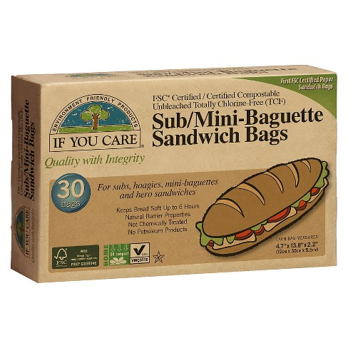 If You Care® FSC Certified Sub/Mini Baguette Sandwich Bags - 30ct - image 1 of 1