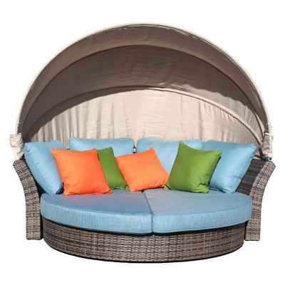 Eclipse Outdoor Expandable Oval Daybed With Canopy - Taupe - Courtyard Casual  Target  sc 1 st  Target & Eclipse Outdoor Expandable Oval Daybed With Canopy - Taupe ...