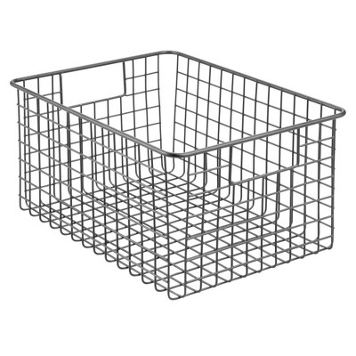 mDesign Metal Wire Storage Basket Bin for Closets
