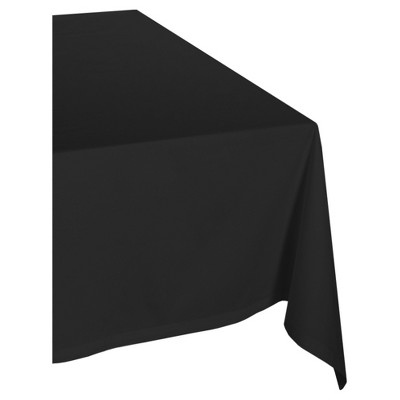 Design Imports 104 X60  Poly Tablecloth Black