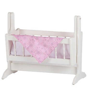 Remley Katie's Collection Kids Wooden Doll Swinging Cradle - Ships Assembled